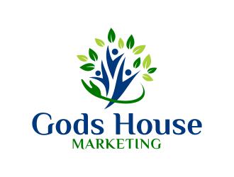 Gods House Marketing logo design by ingepro