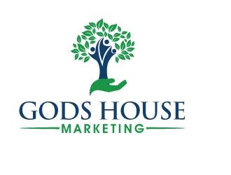 Gods House Marketing logo design by PMG