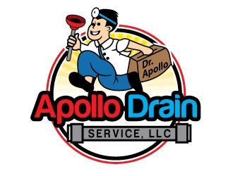 Apollo Drain Service, LLC logo design