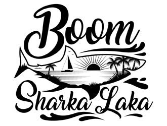 Boom Sharkalaka  logo design