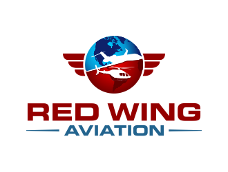 Red Wing Aviation logo design