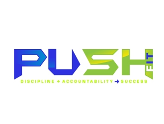 PUSH Fit logo design