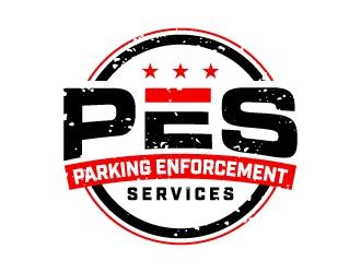 parking enforcement services - PES logo design