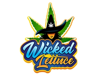 Wicked Lettuce logo design