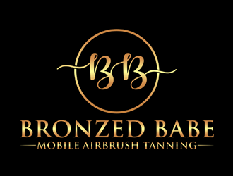 Bronzed Babe  logo design