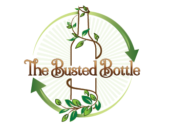 The Busted Bottle logo design