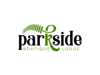 Parkside Boutique Lodge logo design