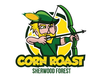 Sherwood Forest Corn Roast logo design