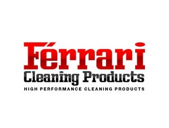 Ferrari Cleaning Products logo design