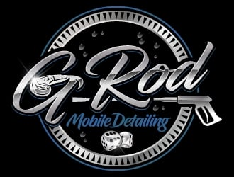 G ROD mobile detailing  logo design
