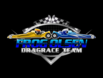 Frog Olsen Dragrace Team logo design