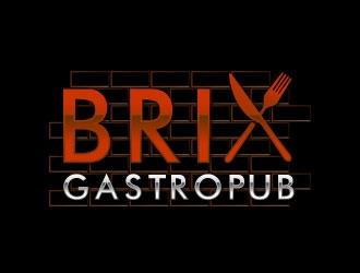 Brix Gastropub logo design