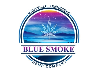 Blue Smoke Hemp Company logo design