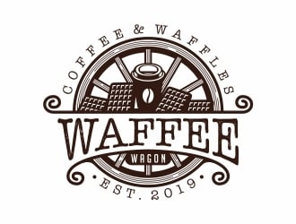 Waffee wagon logo design