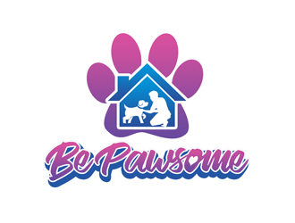 Be Pawsome logo design winner