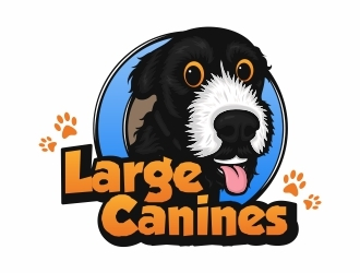 Large Canines logo design