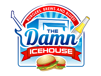 The damn icehouse  logo design