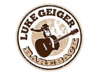 LUKE GEIGER BAREBACK logo design