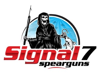 Signal 7 spearguns logo design