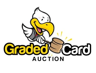 Graded Card Auction logo design