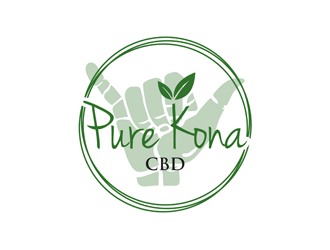 Pure Kona CBD logo design winner