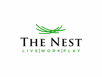 The Nest | Live Work Play logo design