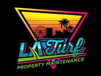 L A Turf logo design
