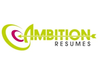 Ambition Resumes -  Clear. Concise. Meaningful. Quantifiable. Targets logo design winner
