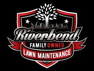 Riverbend Lawn Maintenance  logo design