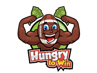 Hungry to Win logo design