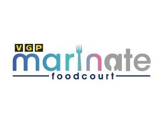 VGP Marinate Foodcourt logo design