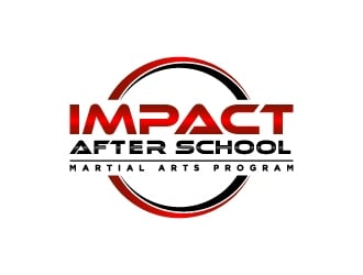 Impact After School Martial Arts Program logo design