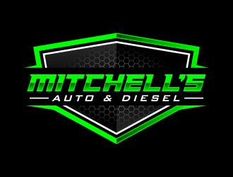 Mitchells Auto & Diesel logo design