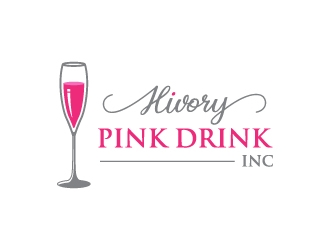 Hivory Pink Drink, Inc logo design winner