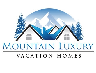 Mountain Luxury Vacation Homes logo design