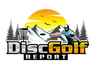 Disc Golf Report logo design