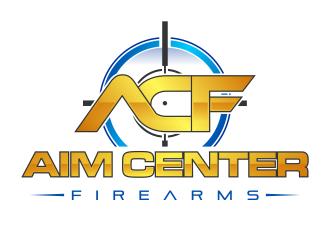 Aim Center Firearms logo design