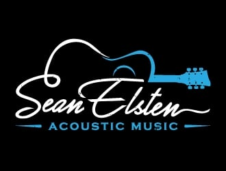 Sean Elsten Acoustic Music logo design