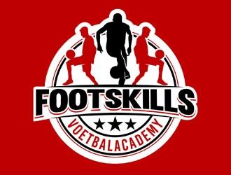 FootSkills Voetbalacademy logo design