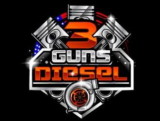 3 Guns Diesel logo design