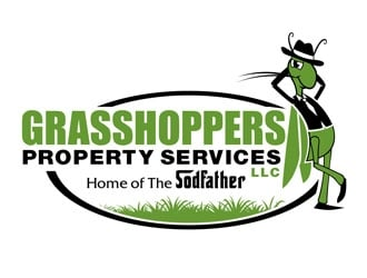 Grasshoppers Property Services LLC logo design
