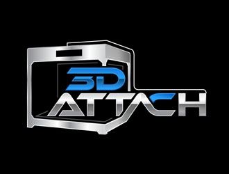 3D Attach Logo Design