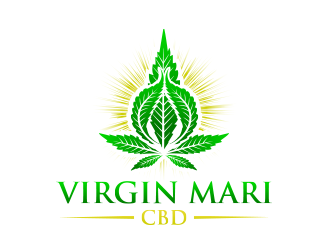 Virgin Mari CBD logo design