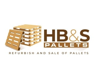 HB&S PALLETS logo design