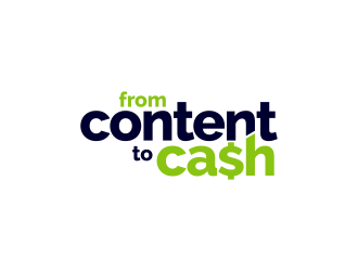 From Content To Cash logo design winner