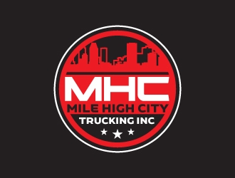 Mile high city trucking inc logo design