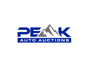 Peak Auto Auctions logo design