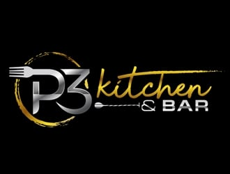 P3 Kitchen & Bar logo design