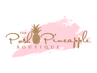 The Posh Pineapple Boutique logo design