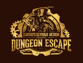 Zaviuss Devious Design Presents: Dungeon Escape logo design